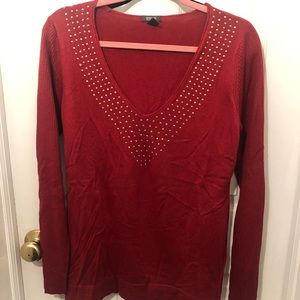 Kenneth Cole Reaction deep red sweater